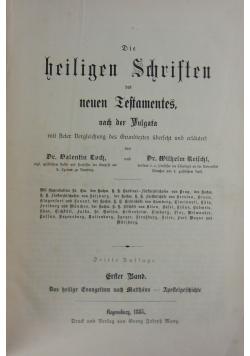 Die Heligen Schristen des neun Iestamentes nach der Vulgara, 1885r.