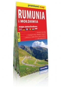 Premium!map Rumunia i Mołdawia 1:700 000 mapa