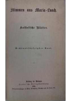 Stimmen aus Maria-Laach, 1899 r.