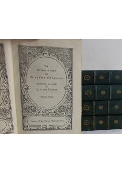 Die Erinnerungen des Giacomo Casanova, Vollständig übertragen von Heinrich Conrad, ok. 1911r.