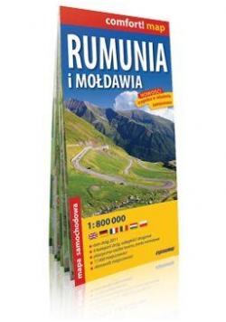 Comfort!map Rumunia i Mołdawia 1:800 000 mapa