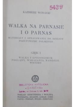 Walka na Parnasie i o Parnas cz. 1, 1928 r.