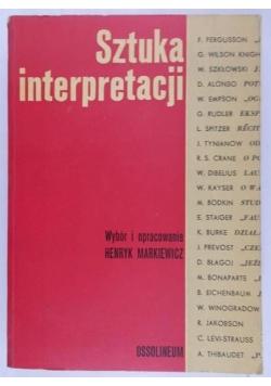 Sztuka interpretacji, tom I