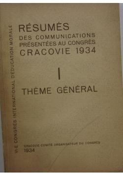 Resumes des communications, 1934 r.
