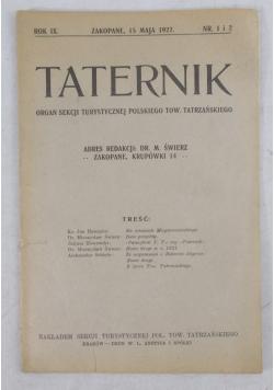 Taternik rok IX, 1922 r.