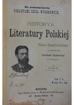 Historya Literatury Polskiej.  Tom V, 1900 r.