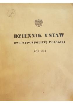 Dziennik ustaw Rzeczypospolitej Polskiej rok 1951