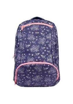 Plecak duży 28 l Flowers niebieski MILAN