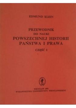 Przewodnik do nauki Powszechnej Historii Państwa i Prawa część I