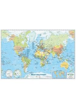 Świat mapa polityczna. Podkładka na biurko