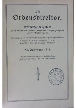 Der Ordensdirektor,1923r.
