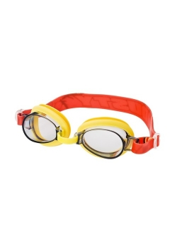 Okularki do pływania w etui Samoloty żółto-czerwone