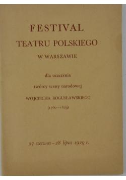 Festival teatru polskiego w warszawie, 1929r.