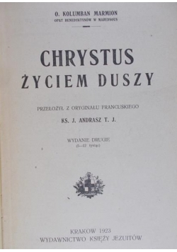 Chrystus życiem duszy, 1923 r.
