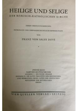 Heilige und Selige, t.II, 1929r.