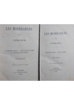 Les Misterables  t. 1  i 2, 1862 r.