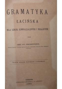 Gramatyka łacińska, 1880r.