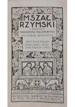 Mszał Rzymski z dodatkiem Nabożeństw Nieszpornych, 1931 r.