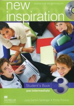 New Inspiration 3 Student's Book Pre-intermediate Podręcznik bez płyty CD
