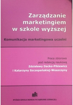 Zarządzanie marketingiem w szkole wyższej