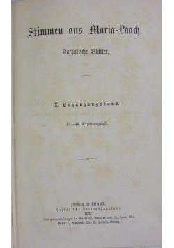 Stimmen aus Maria-Laach, 1887 r.