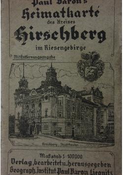 Paul Barons Heimatkarte des Kreises Hirschberg