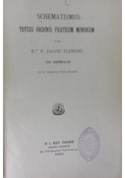 Schematismus totius ordinis fratrum minorum, 1903r.