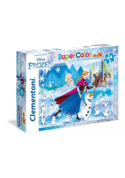 Puzzle 104 Maxi Superkolor Kraina Lodu - Adventure