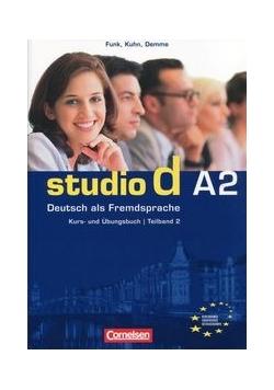 Studio d A2 Kurs und Ubungsbuch + CD Podręcznik z ćwiczeniami, Nowa