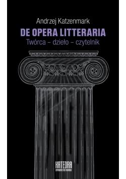 De opera litteraria