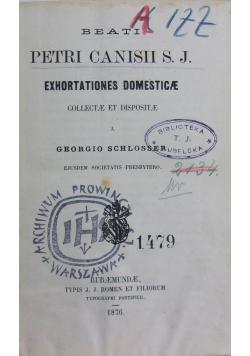 Exhortationes domesticae, 1876 r.