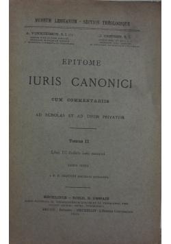 Epitome Iuris Canonici, Tom II, 1940 r.
