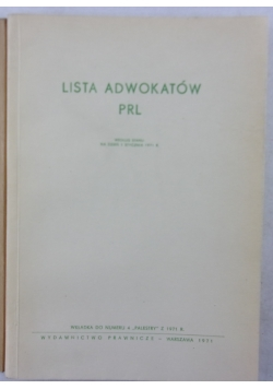 Lista adwokatów PRL