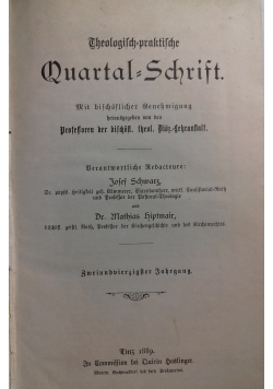 Theologisch- praktische Quartal - Schrift. , 1889 r.