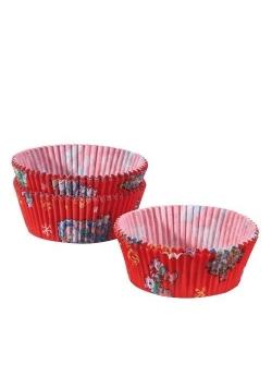 Papilotki do muffinek Mikołaje
