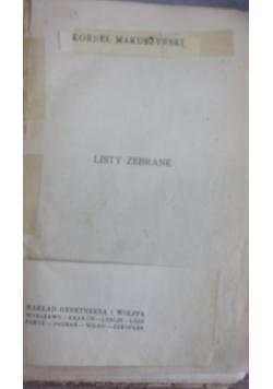 Listy zebrane. 1929 r.