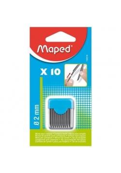 Wkłady do cyrkli - grafit 2 mm 10 sztuk MAPED