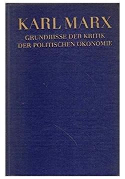 Grundrisse Der Kritik Der Politischen Ökonomie