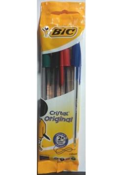 Długopis Cristal Original pouch mix 4 kolory BIC