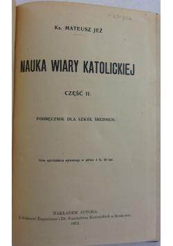 Nauka wiary katolickiej  część 2, 1913 r.