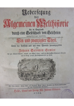 Algemeine Welthistorie,1760r.