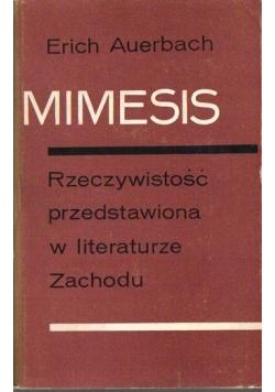 Mimesis, rzeczywistość przedstawiona w literaturze Zachodu