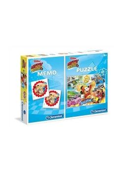 Puzzle 60 + Memo Mickey i raźni rajdowcy