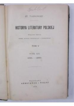 Historya literatury polskiej, Tom V, 1906 r.