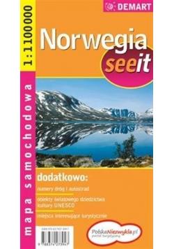 See it Norwegia - mapa samochodowa 1:1000000
