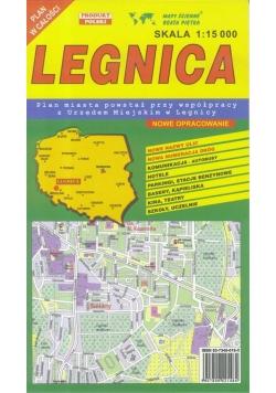 Legnica 1:15 000 plan miasta PIĘTKA
