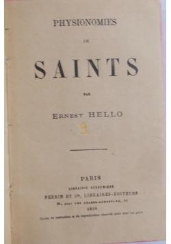 Physionomies de saints, 1924 r.
