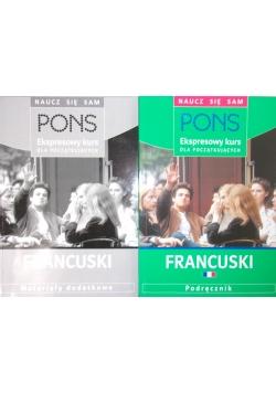 Pons, ekspresowy kurs dla początkujących francuski, podręcznik, materiały dodatkowe