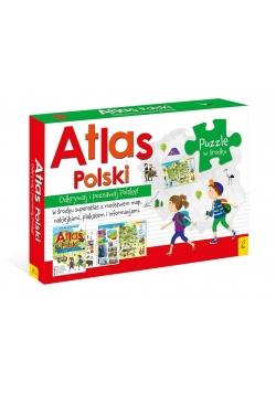 Pakiet: Atlas Polski/Plakat z mapą/Puzzle