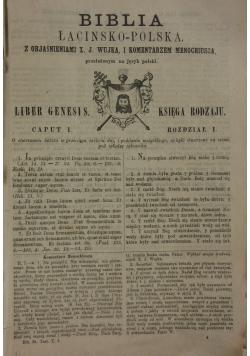 Biblia łacińsko-polska, tomy 1-4, 1896 r